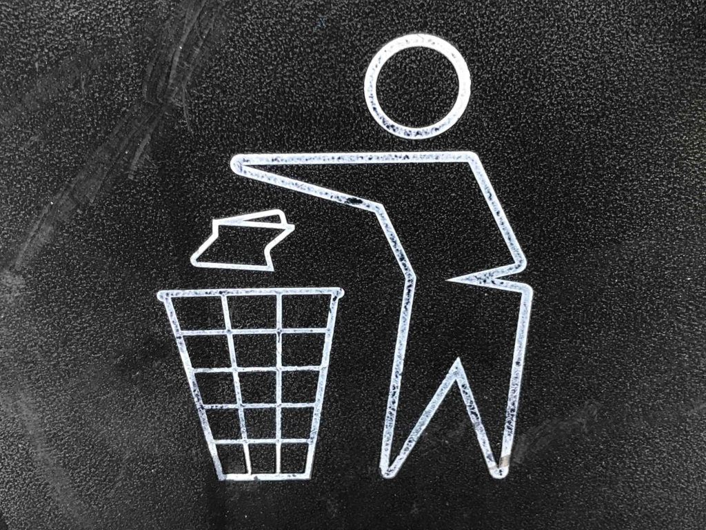 Throwing away our negativity