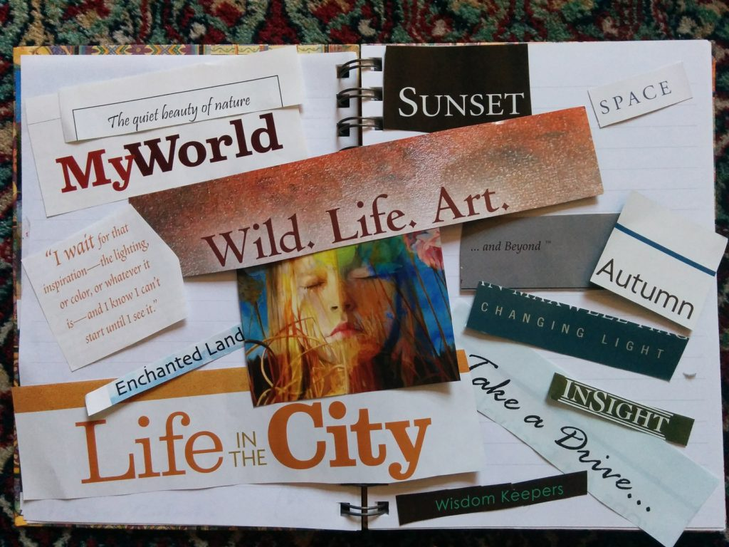 Map your future with a vision board.