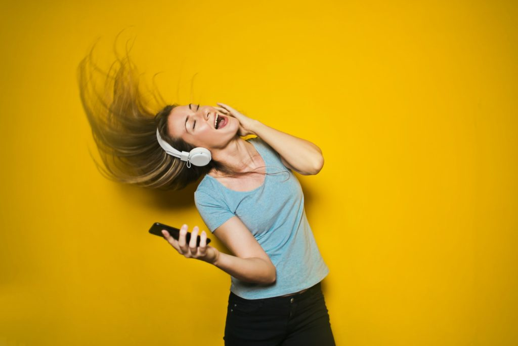 Listening to good music and dancing along is scientifically proven to make you happy.