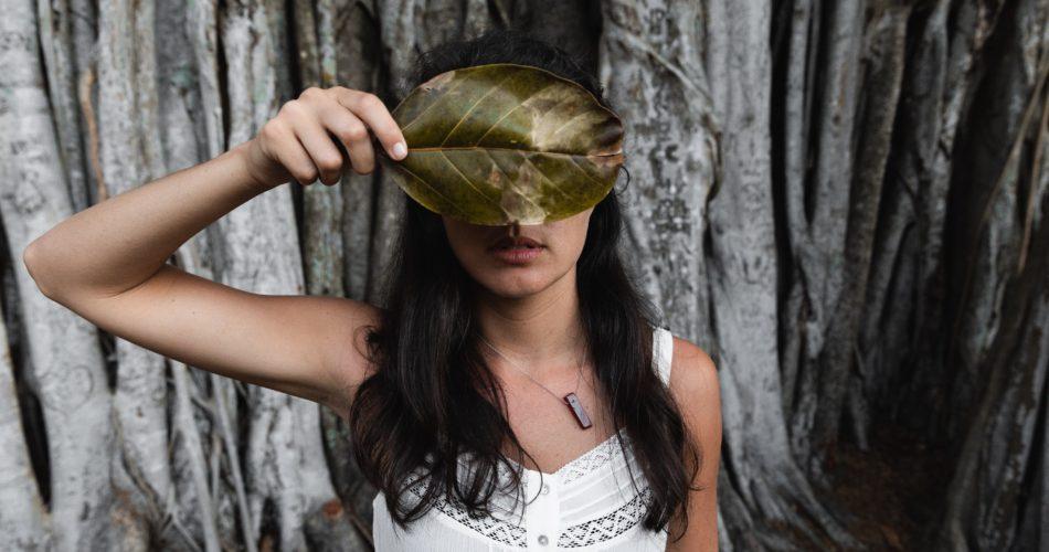 masked with leaf